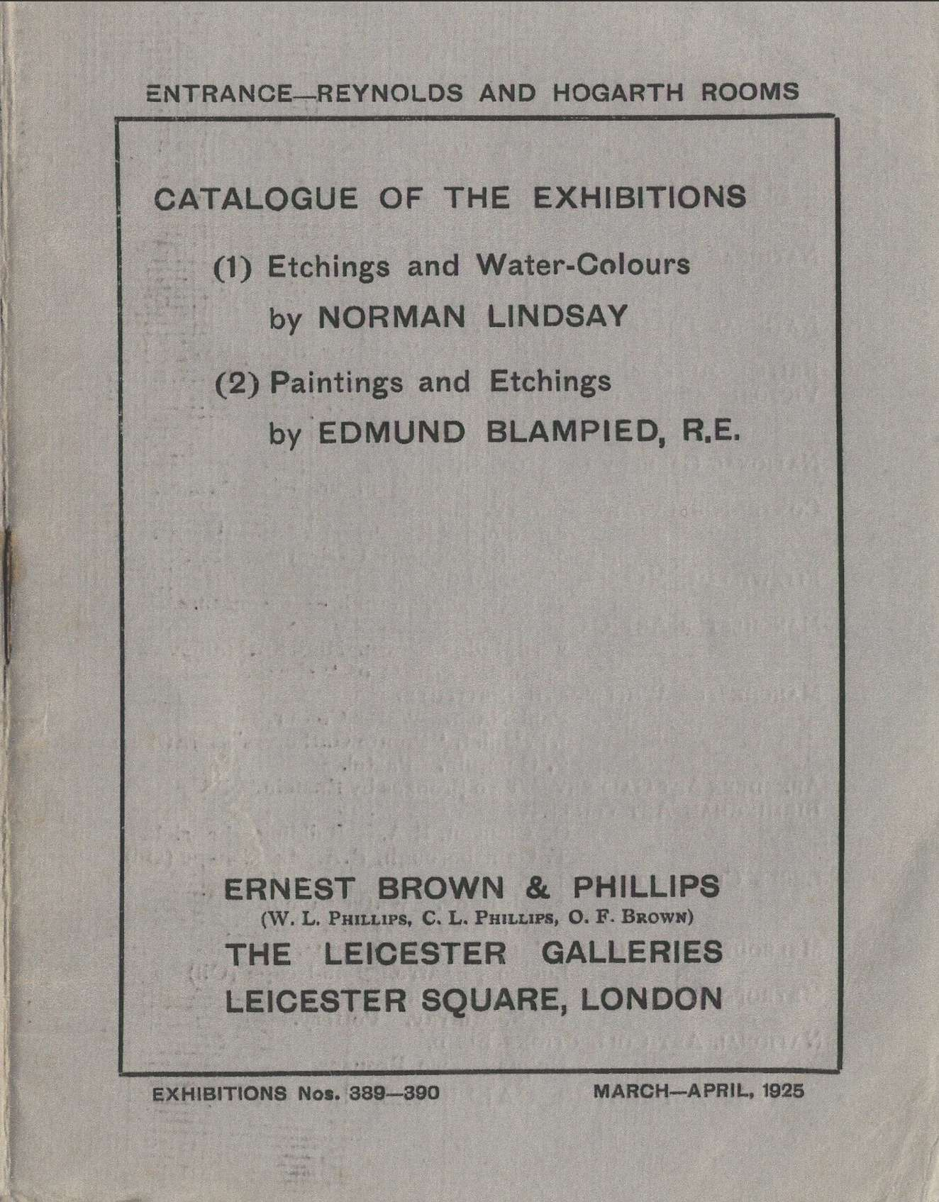 Image of cover of catalogue