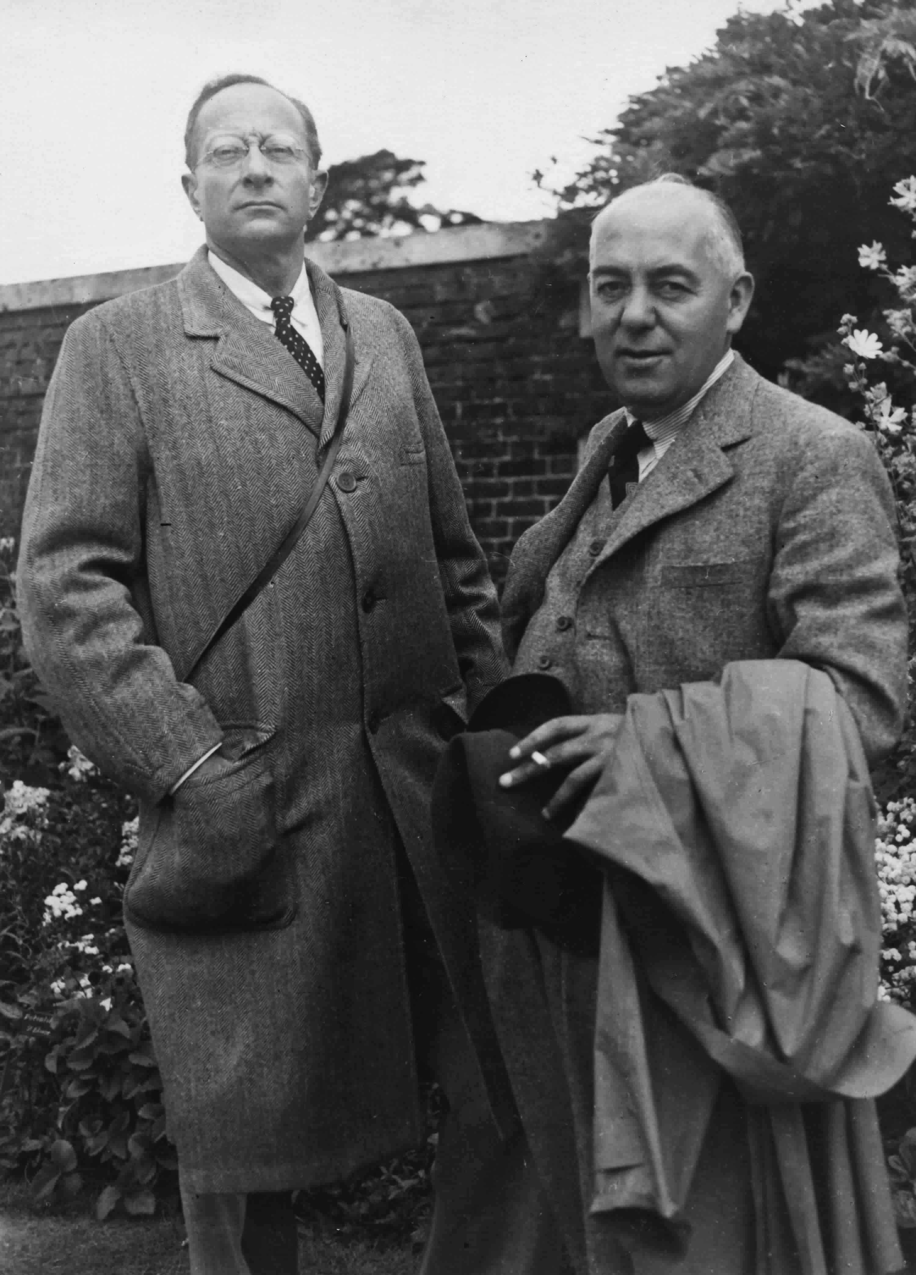 Photograph of Blampied and Harold Baily in 1937