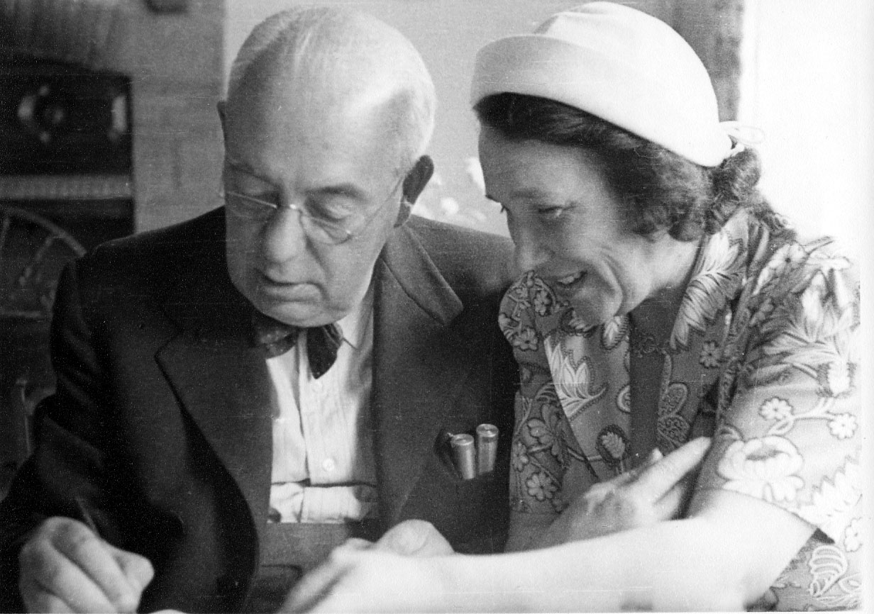 Photograph of Blampied and Lucie Lizon c 1936