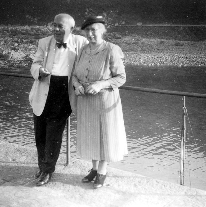 Photograph of Edmund and Marianne Blampied in about 1939