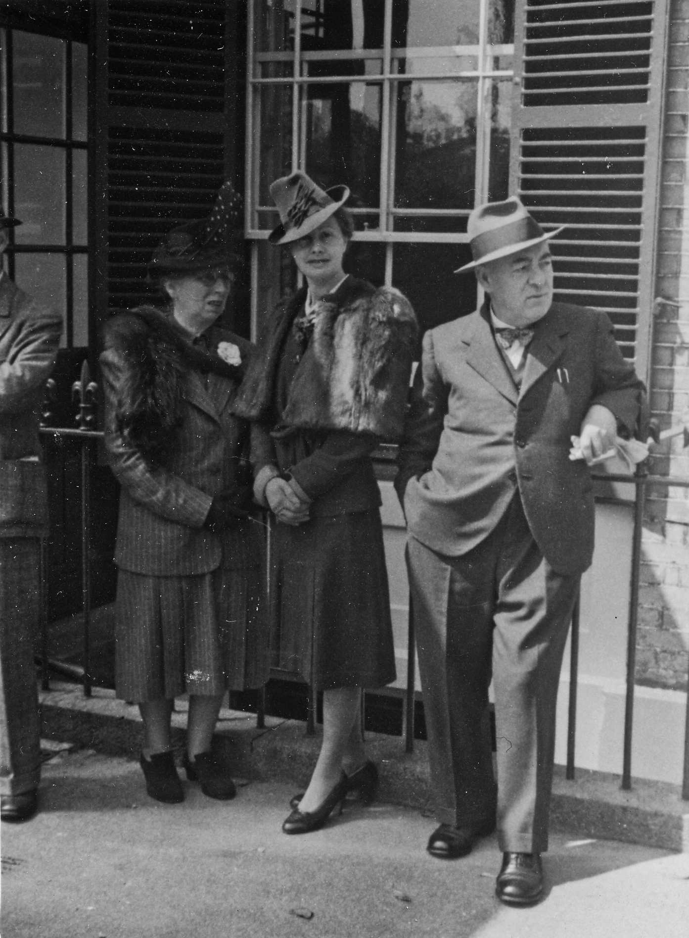Edmund and Marianne Blampied with unknown woman